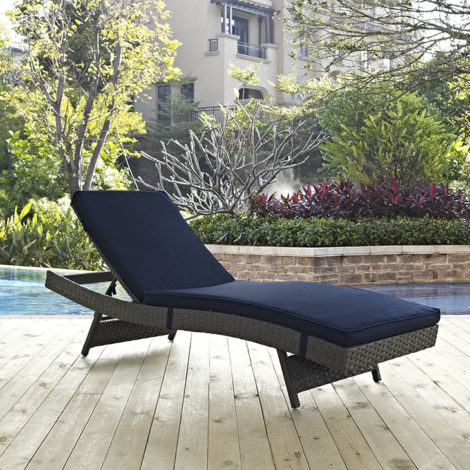 St. Thomas  Outdoor Patio  Chaise - Navy