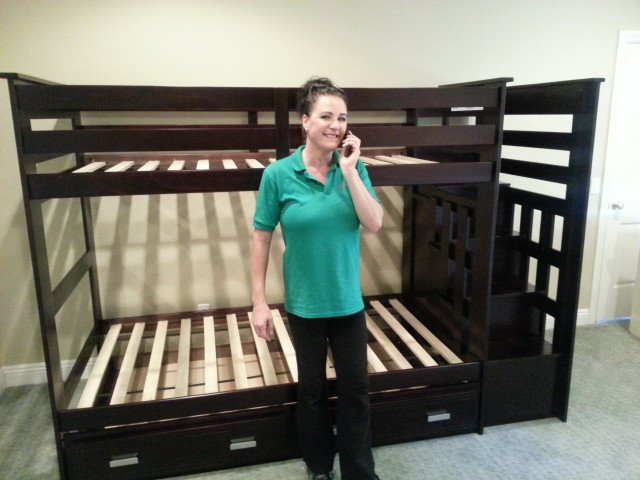 You are currently viewing Kasper's Twin over Twin Espresso Bunk Bed with Trundle and Staircase Storage Delivery and Assembly