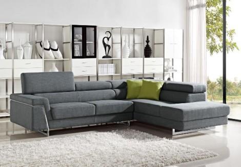 Midtown Grey Fabric Sectional