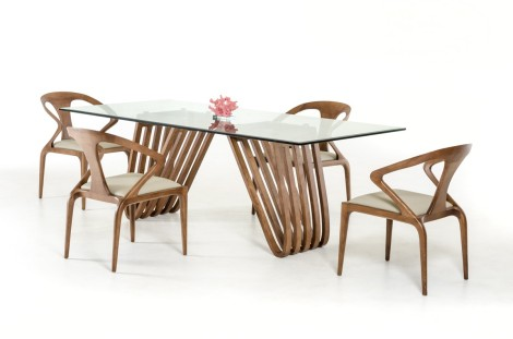 Oxford Walnut & Glass Dining Collection