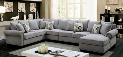 Gabrial's Cozy Grey Sectional