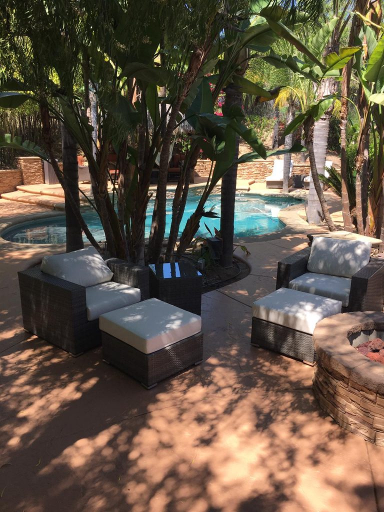 Really Great Customers with a Beautiful Backyard… And Our Outdoor Collection