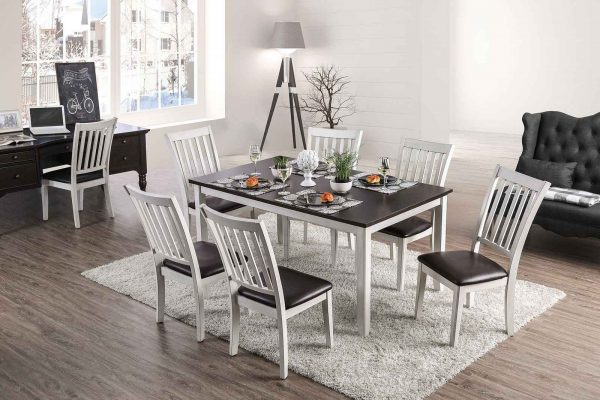 """The Anthony"" Espresso & White Dining Collection – SOLD OUT, NO ETA."