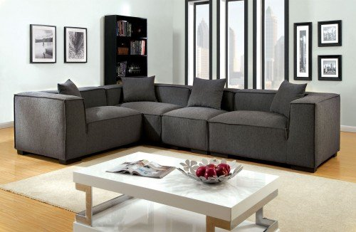 """The Baymont"" Gray Fabric Sectional – SOLD OUT, NO ETA"