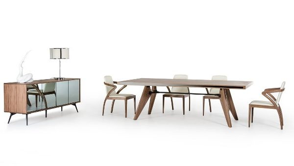 """The Bel Aire"" Walnut Dining Table Collection"