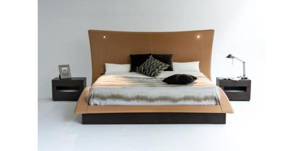 """The Catalina"" Modern Bed with Lighted Headboard – SOLD OUT, NO ETA"