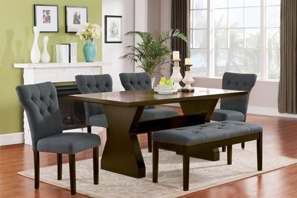 """The Clinton"" Elegant Gray Dining Collection – SOLD OUT, NO ETA"