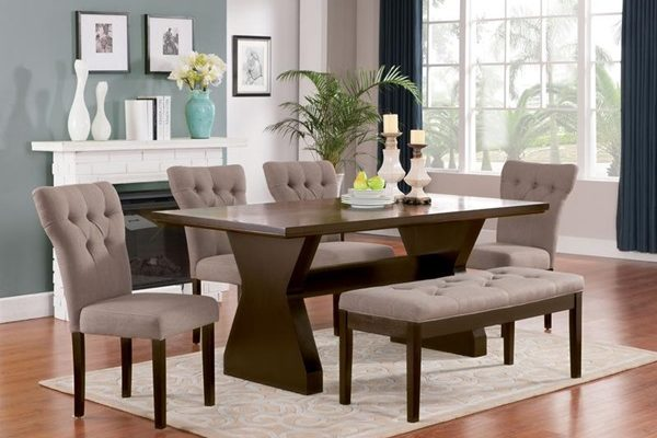 """The Clinton"" Elegant Lt Brown Dining Collection – SOLD OUT, NO ETA"