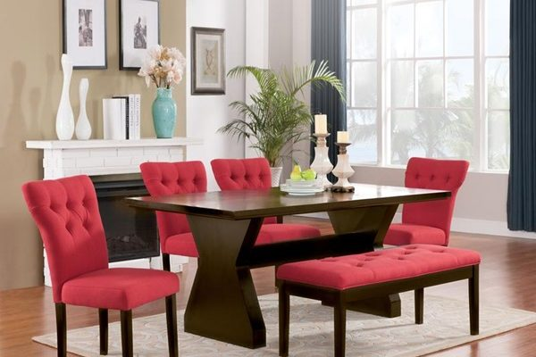 """The Clinton"" Elegant Red Dining Collection – SOLD OUT, NO ETA"
