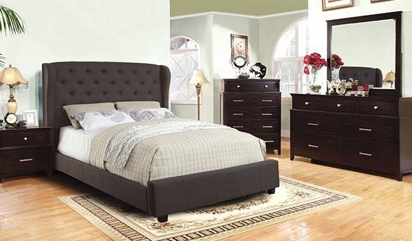 """The Cottage Peak"" Grey Fabric Bed Collection – SOLD OUT, NO ETA"