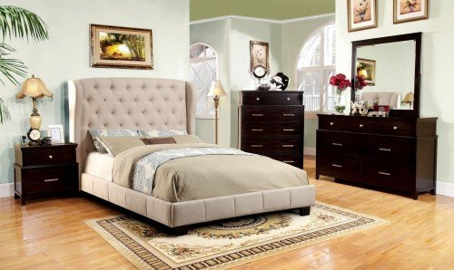 """The Cottage Peak"" Ivory Fabric Bed Collection – SOLD OUT, NO ETA"