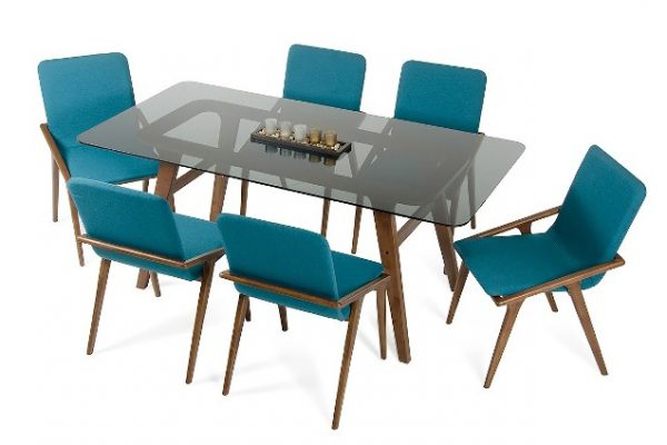 """The Dakota"" Modern Smoked Glass Dining Room Collection – COMING END OF FEBRUARY!"