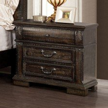 """The Emperor"" Grand Distressed Walnut Bedroom Collection"