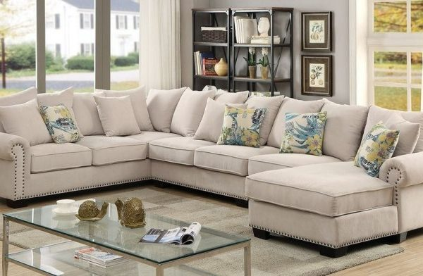"""The Gabrial"" Cozy Ivory Sectional – COMING IN APRIL!"