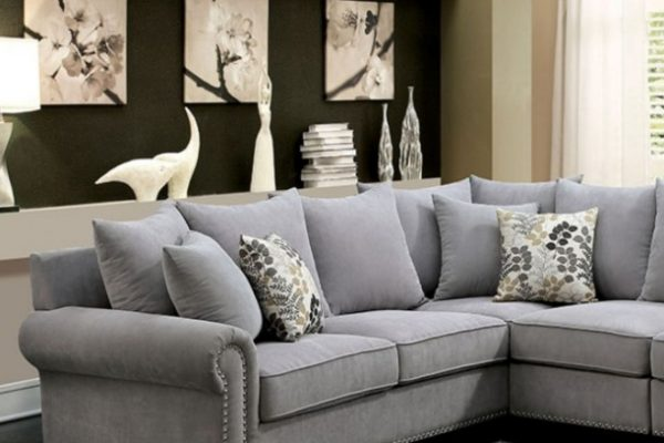 """The Gabrial"" Cozy Grey Sectional – SOLD OUT, NO ETA"
