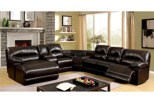 """The Grand"" Transitional Reclining Brown Sectional – COMING END OF JUNE!"