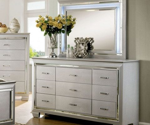 """The Highlands"" Silver 5PC Bedroom Collection"