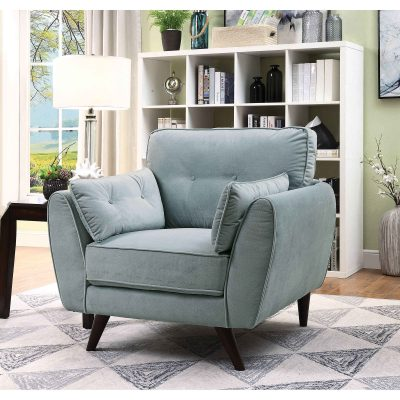 """The """"I Dream of Jeannie"""" Contemporary Light Teal Sofa Set – COMING IN APRIL!"""