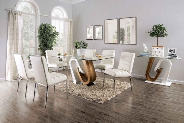 """The Jaruquai"" Contemporary Two-Tone Dining Set"