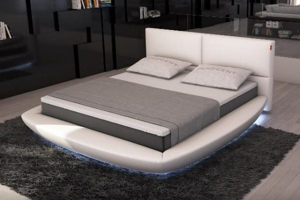 """The Key Islands"" Modern Rounded Bed with LED Lights – SOLD OUT, NO ETA"