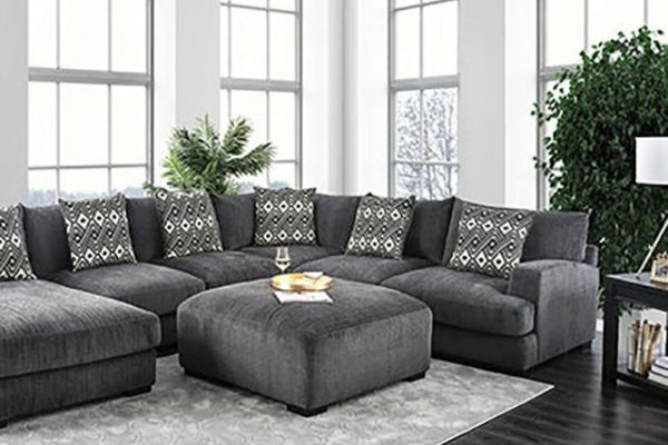 """The Komfee"" Plush Grey Contemporary Sectional – COMING IN NOVEMBER!"