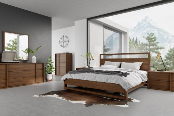 """La Jolla Shores"" Modern Walnut Bedroom Collection – COMING IN JUNE!"