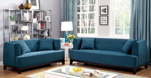 """The London"" Modern Vintage Teal Sofa Collection – SOLD OUT, NO ETA"