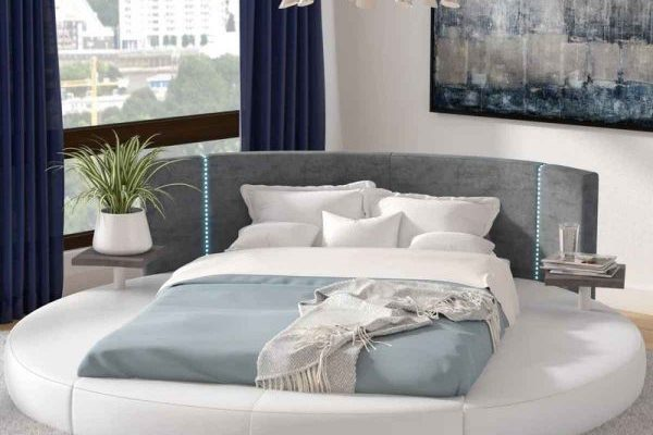 """The Milano"" Modern Rounded Bed with LED Lights – SOLD OUT, NO ETA"