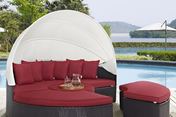 """""""The New Lagoon"""" Canopy Outdoor Daybed Collection – 6 Colors – SOLD OUT, NO ETA"""