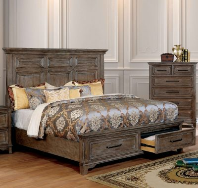 """The Oregon Trail"" Transitional Rustic Oak Bedroom Collection – QUEEN BED ONLY!"