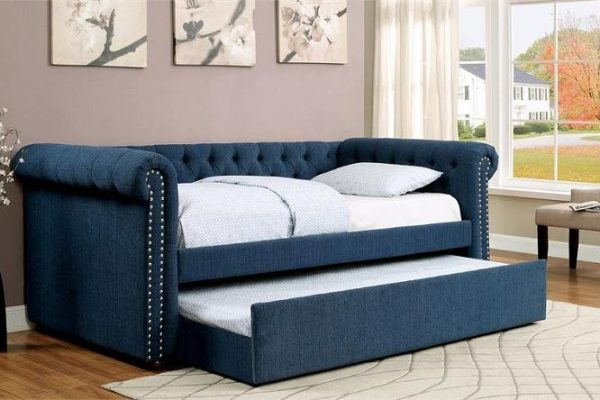 """The Rebecca"" Teal Tufted TWIN Daybed w/ Trundle – COMING IN APRIL!"