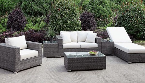 """The Romeo"" 6 PC Outdoor Collection w/Chaise"