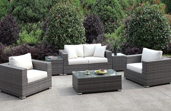 """The Romeo"" 6 PC Outdoor Sofa Set Collection"