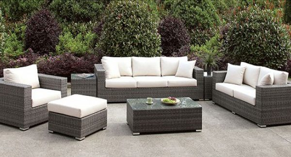 """The Romeo"" 7 PC Outdoor Sofa Set w/Coffee Table – LOW INVENTORY, PLEASE CALL!"