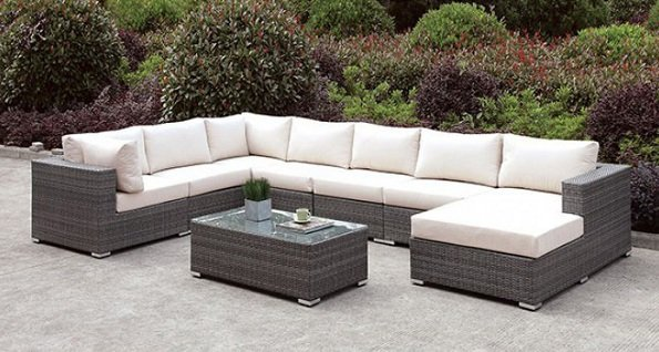 """The Romeo"" 8 PC Outdoor Sectional Collection"