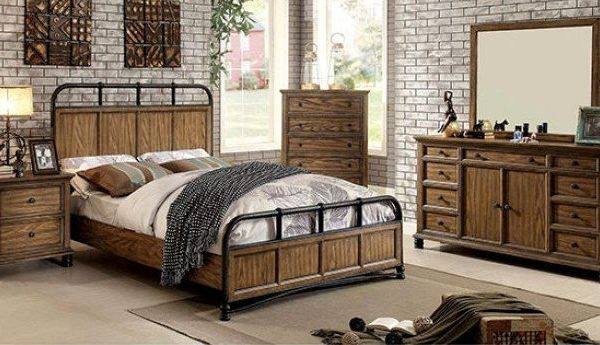 """The Rustic"" Industrial Bedroom Collection – CA KING ONLY!"