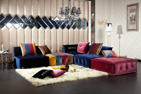 """The Sahara"" Contemporary Sectional Sofa"