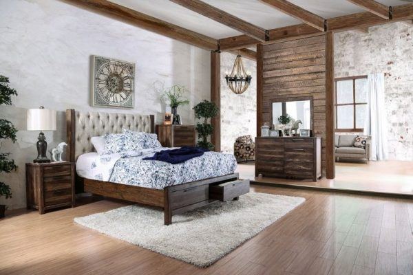 """""""The Sierra"""" Tufted Wood Grain Bedroom Collection w/Drawers – COMING IN MAY!"""