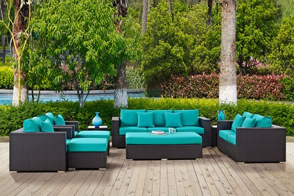 """The St. Thomas"" 9pc Outdoor Patio Sofa Set –  SOLD OUT, NO ETA"