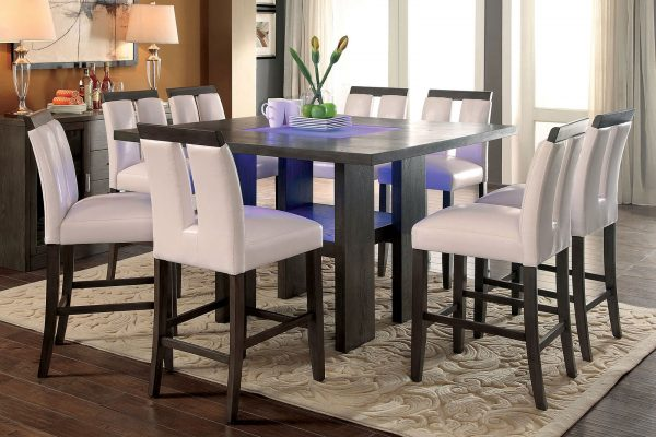 """Starglow"" Contemporary Luminous Counter Height Dining Set – COMING IN DECEMBER!"