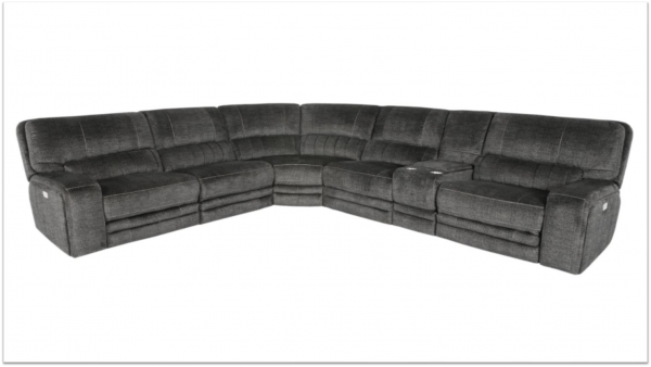 """The Tatra"" GreyBrown Versatile Power Motion Sectional"