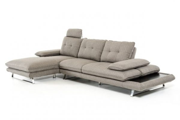 """The Westwood"" Modern Grey Fabric Sectional"