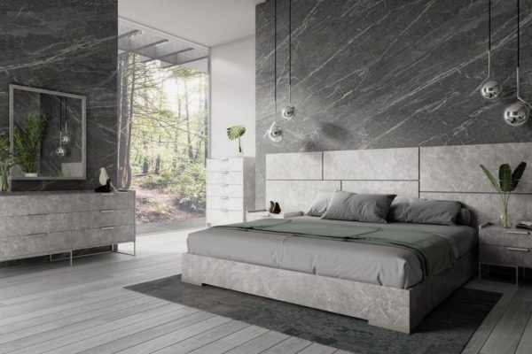 "The ""Marbella Grey"" Modern Italian Bedroom Set"